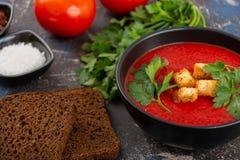 κρεμώδης ντομάτα σούπας στοκ φωτογραφίες