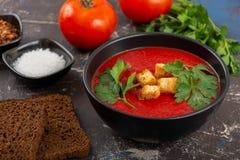κρεμώδης ντομάτα σούπας στοκ φωτογραφία
