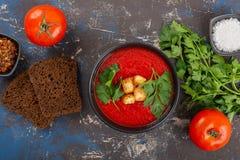 κρεμώδης ντομάτα σούπας στοκ εικόνα