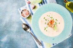 Κρεμώδης σούπα γαρίδων στοκ φωτογραφία με δικαίωμα ελεύθερης χρήσης
