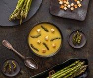 Κρεμώδης σούπα σπαραγγιού στοκ φωτογραφία με δικαίωμα ελεύθερης χρήσης