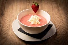Κρεμώδης σούπα φρούτων στοκ φωτογραφίες