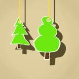 Κρεμώντας δέντρα Απεικόνιση αποθεμάτων