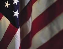 Κρεμώντας αμερικανική σημαία Στοκ Εικόνα
