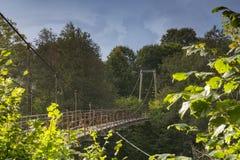Κρεμώντας γέφυρα για πεζούς Στοκ φωτογραφίες με δικαίωμα ελεύθερης χρήσης