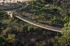 Κρεμώντας γέφυρα πέρα από τον μπλε Νείλο στην Αιθιοπία στοκ εικόνες με δικαίωμα ελεύθερης χρήσης