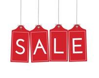 κρεμώντας ετικέττες πώλη&sigm Στοκ εικόνα με δικαίωμα ελεύθερης χρήσης