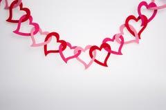 Κρεμώντας διακόσμηση μορφής καρδιών Στοκ Φωτογραφίες