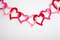 Κρεμώντας διακόσμηση μορφής καρδιών Στοκ Φωτογραφία