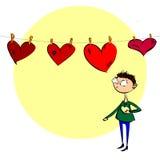 Κρεμώντας καρδιές Στοκ Εικόνα