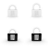 κρεμώντας κλείδωμα κώδικ Στοκ εικόνες με δικαίωμα ελεύθερης χρήσης