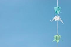 κρεμώντας μικρό νήμα origami Στοκ Εικόνα