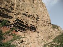 Κρεμώντας ναός Shanxi Στοκ Εικόνες