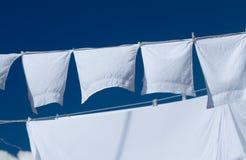 κρεμώντας πλυντήριο Στοκ φωτογραφία με δικαίωμα ελεύθερης χρήσης