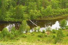 κρεμώντας ποταμός γεφυρών Στοκ εικόνες με δικαίωμα ελεύθερης χρήσης