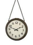 Κρεμώντας ρολόι που απομονώνεται παλαιό Στοκ Εικόνες