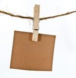 κρεμώντας σχοινί δέρματος ετικετών Στοκ φωτογραφίες με δικαίωμα ελεύθερης χρήσης