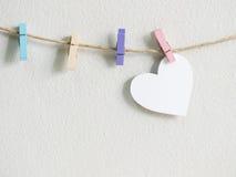 Κρεμώντας σχοινί πνεύματος συμβόλων καρδιών Στοκ Φωτογραφίες