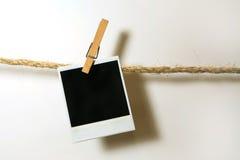 κρεμώντας τρύγος polaroid εγγράφ Στοκ Φωτογραφίες
