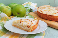 Κρεμώδης πίτα της Apple Στοκ φωτογραφίες με δικαίωμα ελεύθερης χρήσης