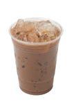 Κρεμώδης παγωμένη απομόνωση Cappuccino καφέ στο λευκό Στοκ φωτογραφία με δικαίωμα ελεύθερης χρήσης