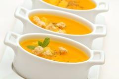 κρεμώδης σούπα καρότων Στοκ Εικόνες