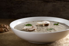 κρεμώδης σούπα μανιταριών στοκ φωτογραφίες με δικαίωμα ελεύθερης χρήσης
