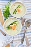 Κρεμώδης φυτική σούπα στοκ φωτογραφίες
