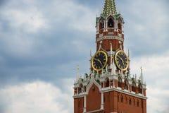 Κρεμλίνο Μόσχα Πύργος Spasskaya, ρολόι κόκκινο τετράγωνο Κόσμος της ΟΥΝΕΣΚΟ Στοκ Εικόνες