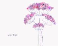 κρητιδογραφία απεικόνισης τεχνητών λουλουδιών διανυσματική απεικόνιση