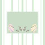 κρητιδογραφία αυγών Πάσχας ανασκόπησης διανυσματική απεικόνιση