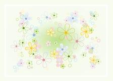 κρητιδογραφία λουλουδιών ανασκόπησης Στοκ εικόνα με δικαίωμα ελεύθερης χρήσης