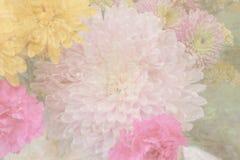 κρητιδογραφία λουλουδιών ανασκόπησης Στοκ Εικόνες