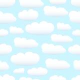 κρητιδογραφία σύννεφων άνευ ραφής Στοκ εικόνες με δικαίωμα ελεύθερης χρήσης