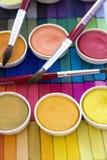 κρητιδογραφίες χρωμάτων &alp Στοκ φωτογραφία με δικαίωμα ελεύθερης χρήσης