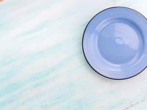Κρητιδογραφιών τοπ άποψη πιάτων πιάτων χρώματος κεραμική Στοκ Εικόνα