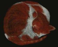 Κρητιδογραφία γατών Στοκ εικόνες με δικαίωμα ελεύθερης χρήσης