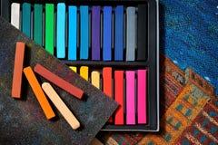 Κρητιδογραφίες τέχνης χρώματος Στοκ φωτογραφία με δικαίωμα ελεύθερης χρήσης