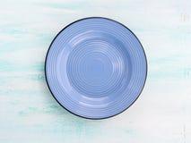 Κρητιδογραφιών χρώματος κεραμικό πιάτων υπόβαθρο άποψης πιάτων τοπ Στοκ Εικόνα