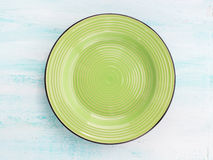 Κρητιδογραφιών χρώματος κεραμικό πιάτων υπόβαθρο άποψης πιάτων τοπ Στοκ Φωτογραφία