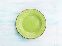 Κρητιδογραφιών χρώματος κεραμικό πιάτων υπόβαθρο άποψης πιάτων τοπ Στοκ Εικόνες