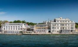 Κριμαία λιμενική αποβάθρα Σεβαστούπολη Ουκρανία της Κριμαίας βαρκών κεντρική Άποψη αναχωμάτων της Σεβαστούπολης από τη θάλασσα Στοκ Φωτογραφία