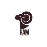 Κριός, πρόβατα, αρνιών επικεφαλής πρότυπο λογότυπων σκιαγραφιών γραφικό απεικόνιση αποθεμάτων