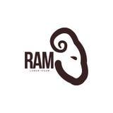 Κριός, πρόβατα, αρνιών επικεφαλής πρότυπο λογότυπων σχεδιαγράμματος γραφικό διανυσματική απεικόνιση