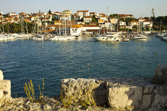 Κροατία, άποψη νησιών Ciovo από το κάστρο Trogir Στοκ Φωτογραφίες