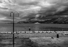 Κροατία Γραπτή ακτή Στοκ Φωτογραφία