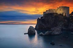 Κροατία & ηλιοβασίλεμα στοκ φωτογραφία με δικαίωμα ελεύθερης χρήσης
