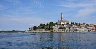 Κροατία, η πόλη Rovinj Το παλαιό μέρος της πόλης στοκ φωτογραφία