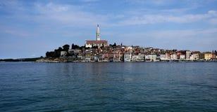 Κροατία, η πόλη Rovinj Το παλαιό μέρος της πόλης στοκ εικόνα με δικαίωμα ελεύθερης χρήσης