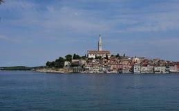Κροατία, η πόλη Rovinj Το παλαιό μέρος της πόλης στοκ φωτογραφία με δικαίωμα ελεύθερης χρήσης